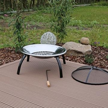 feuerschale fs1mit grillrost von clgarden die ideale. Black Bedroom Furniture Sets. Home Design Ideas