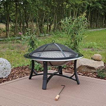 Feuerschale mit Grillrost aus Edelstahl Grillschale Feuerstelle für Garten FS2 - 1