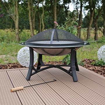 Feuerschale mit Grillrost aus Edelstahl Grillschale Feuerstelle für Garten FS2 - 2