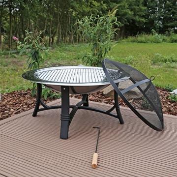 Feuerschale mit Grillrost aus Edelstahl Grillschale Feuerstelle für Garten FS2 - 3