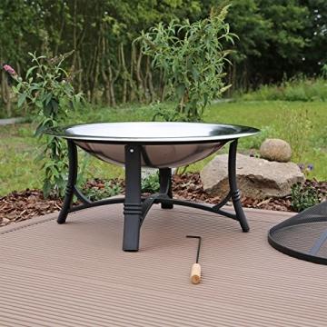 Feuerschale mit Grillrost aus Edelstahl Grillschale Feuerstelle für Garten FS2 - 4