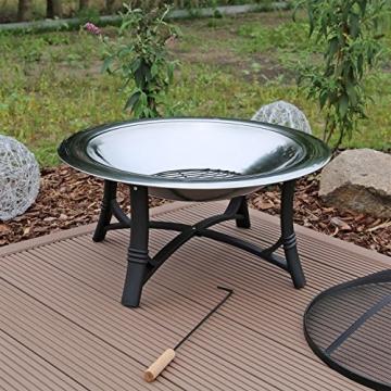 Feuerschale mit Grillrost aus Edelstahl Grillschale Feuerstelle für Garten FS2 - 5