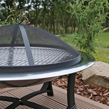 Feuerschale mit Grillrost aus Edelstahl Grillschale Feuerstelle für Garten FS2 - 6