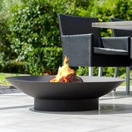 Hitzebeständige Design-Feuerschale mit Sockel-1