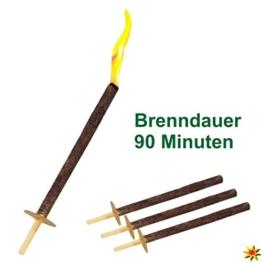 Wachsfackel für Osterfeuer, Gartenfeuer, Feuerschale