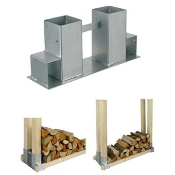 Stapelhilfe für Feuerholz-Kaminholz, 2er Set -